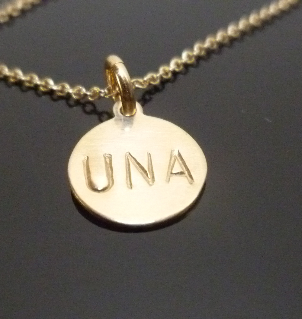 Gold filled charm necklace unisex una music for Gold filled jewelry